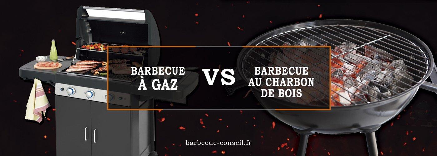 barbecue à gaz et barbecue au charbon