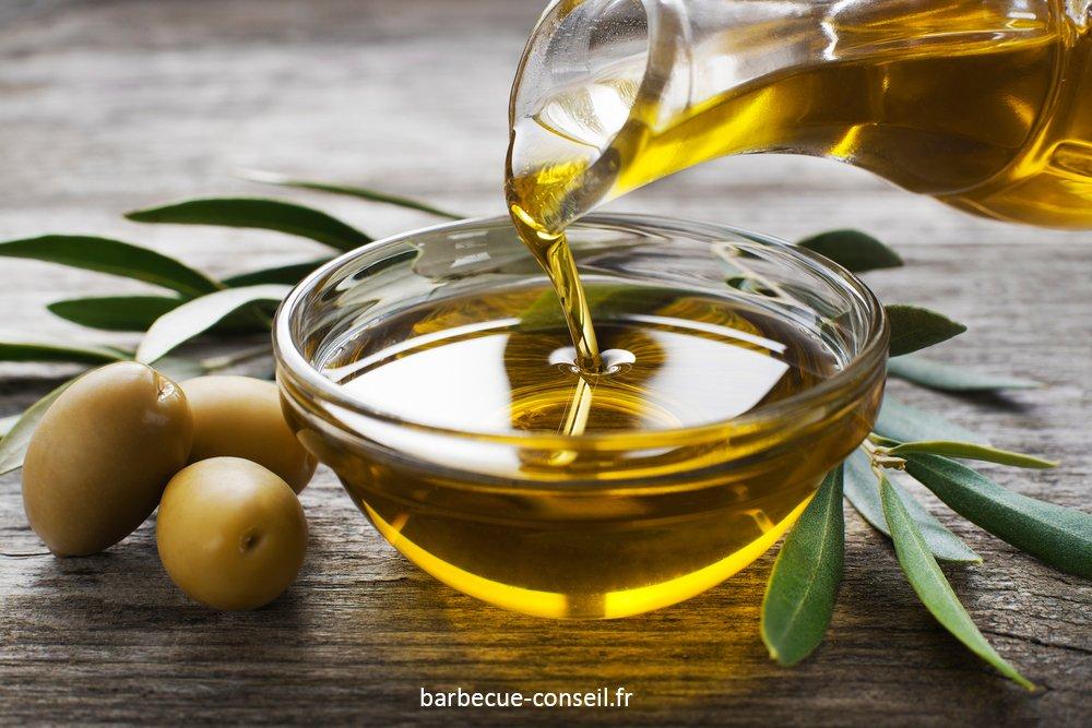 De l'huile d'olive fumée